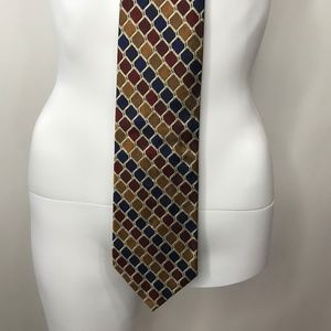 Jos A Bank NWT Silk Tie Hand Swen Made in USA